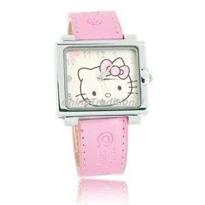 Hello Kitty Square Leather Band Quartz girls Watch