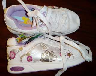 TINKERBELL GIRLS ATHLETICS WHITE PURPLE GIRLS SHOE SIZE 13 BRAND NEW