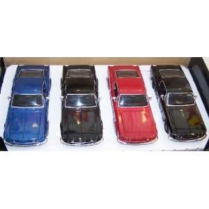 1967 Ford Mustang Gt 4 Car Three Colors Display Box Toys & Games