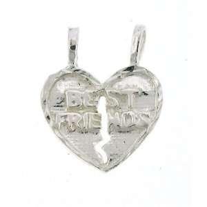 Figaro Chain Necklace with Charm Best Friend Break Away Heart Jewelry