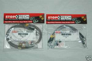 StopTech Stainless Brake Lines F/R Audi TT 1.8L 99 06