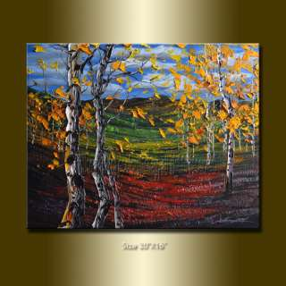 WILLSON ORIGINAL LANDSCAPE TREE OIL PAINTING Textured Palette Knife