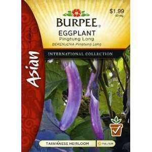 69634 Asian   Eggplant Pingtung Long Seed Packet Patio, Lawn & Garden