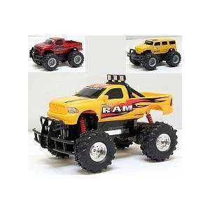 110 Scale Battery Operated Vehicles Pack   Yellow Dodge