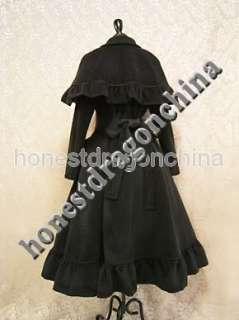 Autumn Winter Gothic Lolita Wool Cape Coat B2 Custom