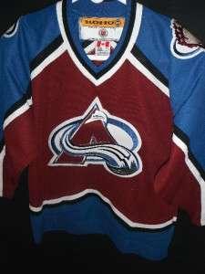 YOUTH XL KOHO VTG EC COLORADO AVALANCHE AVS NHL HOCKEY JERSEY