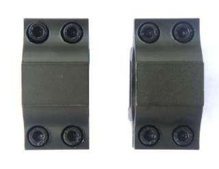 High Scope Mount 25.4mm Rings for Weaver Picatinny Rail Black