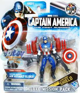 Marvel Captain America Deluxe Pack Air Assault Glider