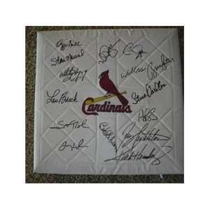 St. Louis Cardinals Signed Legends Baseball Base Pujols