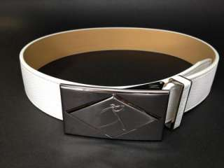 White Leather Golf Belt   Edwin Watts Golf $55.99   NEW with Tags