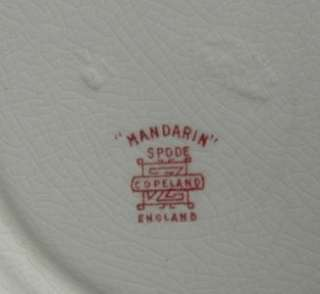 Spode Mandarin Pink Tower scalloped edge Salad Plate