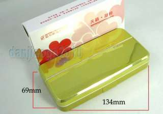 Large Rectangle Mirror contact lens lenses box case holder container