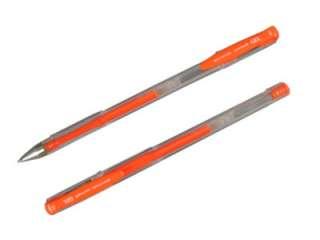 24 Uni Ball Gel Roller Ball Pens Orange Medium Point 070530604047