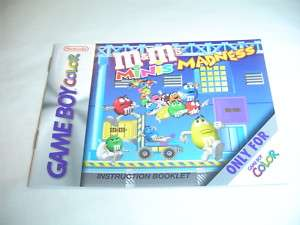 Manual ONLY for M&Ms Minis Madness   Nintendo Game Boy
