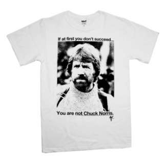 Chuck Norris If You Dont Succeed Funny T Shirt Brand New Officially