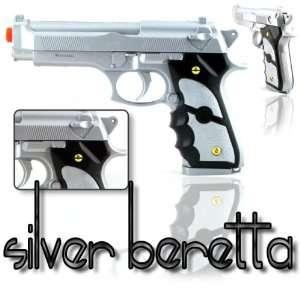 92F Silver Beretta Airsoft Hand Pistol Gun Sports