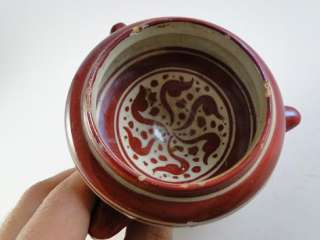 French Faience Art Pottery Urn Bowl Dog Mini Planter Balon