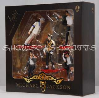 KING OF POP MICHAEL JACKSON FIGURES 5 POSE SET FIGURINE