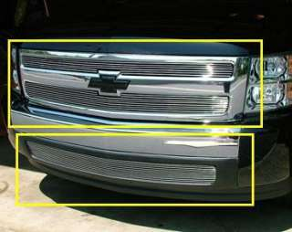 07 11 Chevy Silverado 1500 Up Low Combo Billet Grille