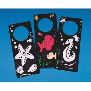 Velvet Art Door Hangers Craft Kit (Makes 12): Toys & Games