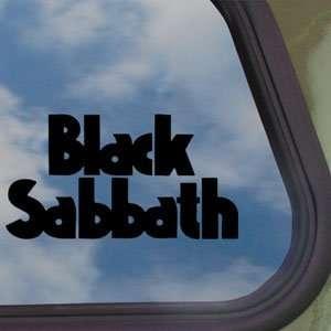 Black Sabbath Black Decal Ozzy Metal Band Window Sticker