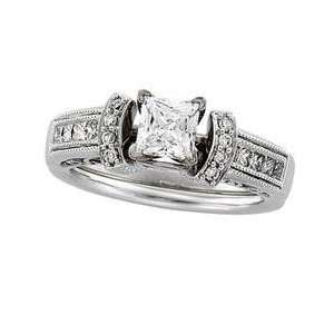 14k White Gold Diamond Bridal Enhancer Ring Everything