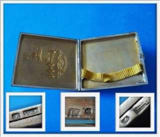 Vintage Sterling SILVER Monument Cigarette Case