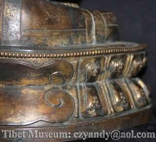 wonderful amazing sacred old antique tibetan buddhism gilded bronze