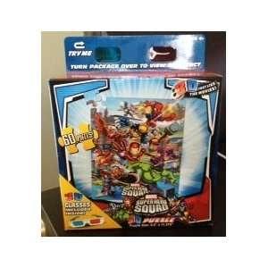 MARVEL SUPER HERO SQUAD 3D PUZZLE with 3D Glasses 60 Piece
