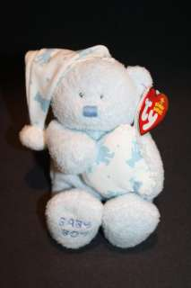 NEW Ty Plush BLUE Beanie BABY BOY Pillow CAP BEAR 6 MWMT Soft