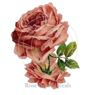Shabby Romantic Beautiful Big Red Roses Chic Decals