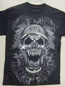Skin Industries Mens T Shirt Robo Skull
