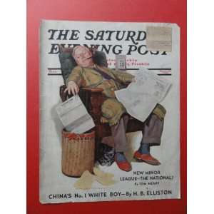 The Saturday Evening Post Magazine March 19,1938 (Cover Only) cover by