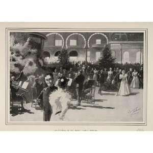 1900 Print Spanish American War Musicians Hotel Tampa