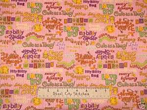 Debbie Mumm Love Bug Fabric Pink Ladybug Bee Bugs Yard