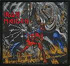 Iron Maiden Number Of The Beast Woven Metal Music Patch