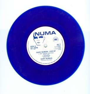 GARY NUMAN THE LIVE EP 45 RPM BLUE VINYL CARS 1984