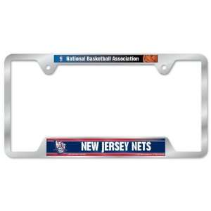 New Jersey Nets Metal License Plate Frame Sports