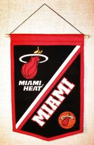 Miami Heat NBA Traditions Wool Banner Pennant
