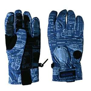 Grenade Fragment 09   Mens Snowboard Gloves   Blue Sports & Outdoors