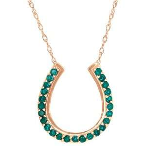 0.25 Ct Round Green Topaz 14k Rose Gold Pendant Jewelry