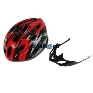 Bike Helmet Black with Red PVC EPS Bicycle Cycling Riding sport