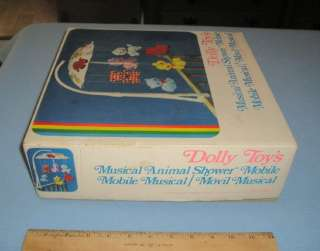 Dolly Toy Co. Musical Animal Shower Nursery Mobile 1968 Patent No. 603