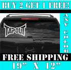 Large Tapout UFC Vinyl Decal Sticker BIG, ANY COLOR