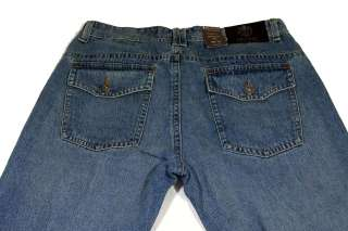 Mens Bill Blass Fashion Jeans Boot Cut Pre Washed 30x30