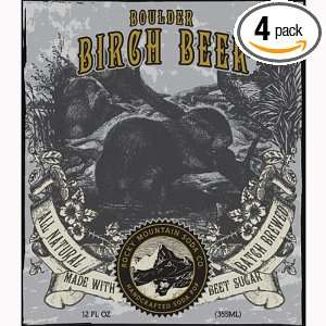 Boulder Birch Beer, Flavored with Natural Beet Sugar by the Rock