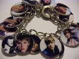 Justin Bieber Charm Bracelet singer,music,pop star,ooak
