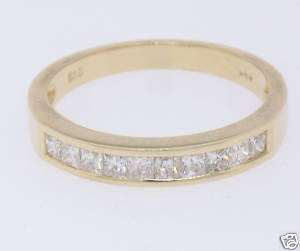 14k Solid Gold .50 Ct. Channel Set Diamond Band/Ring