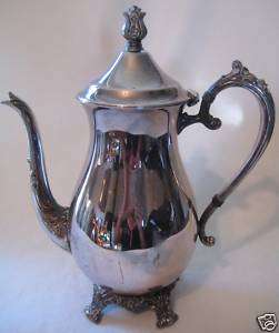 Vtg B Rogers Silver Co 1883 Coffee Teapot Attached Lid