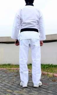 TaeKwonDo uniform TKD DAN DOBOK Black collar uniforms + Black Belt TAE